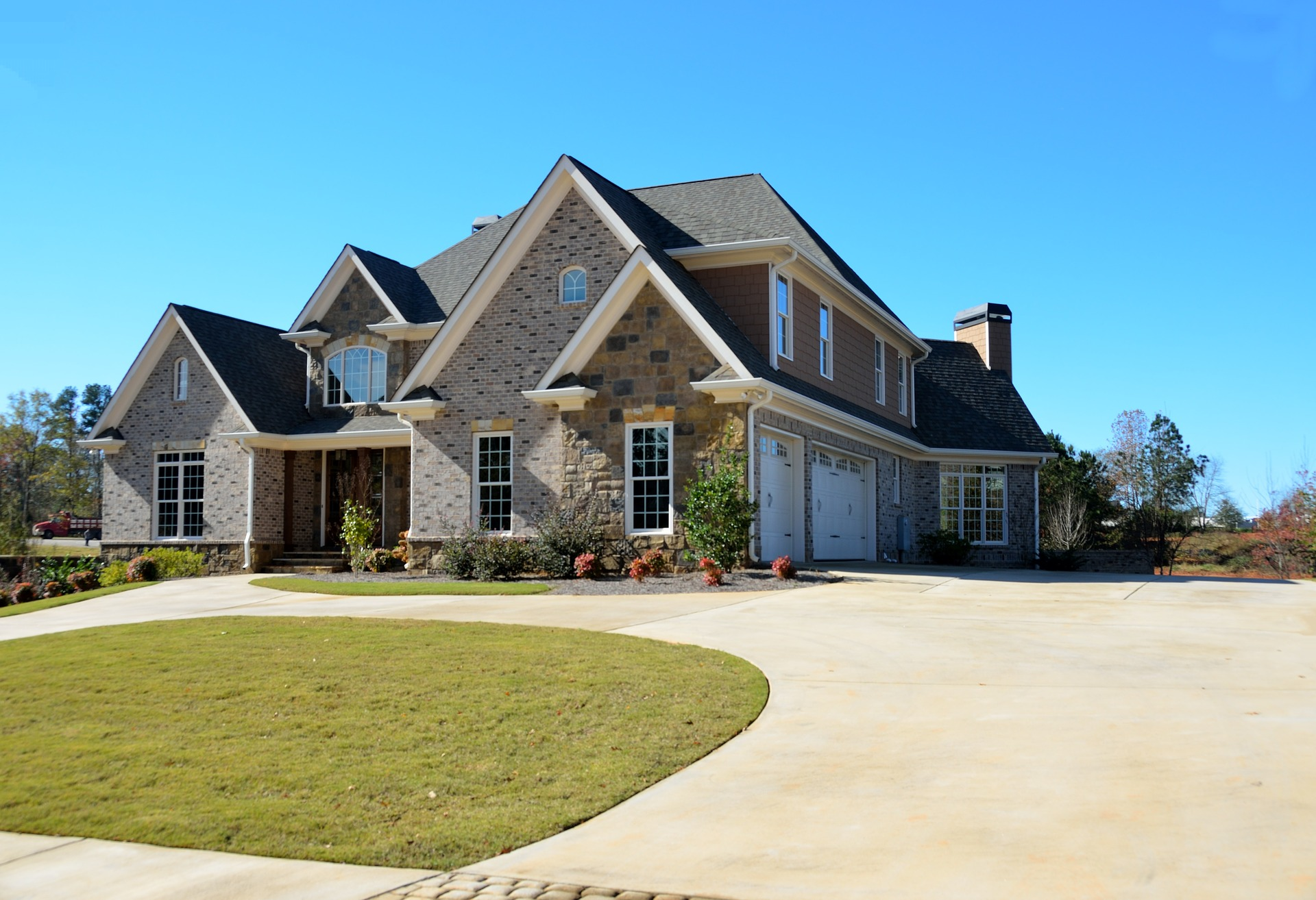 newly landscaped home